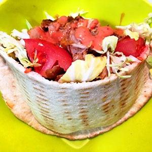 【1】ケバブサンド(Kebab sandwich)