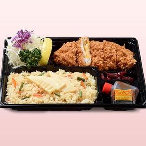 チーズミルフィーユと竹の子ご飯弁当