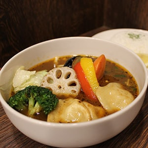 水餃子とたっぷり野菜のスープカリー