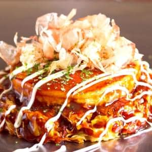 【お好み焼き】ごっつい焼(豚、山芋とろろ焼き)