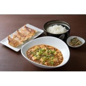 【E333】麻婆豆腐定食+餃子5個