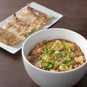 【E342】麻婆豆腐丼+餃子5個