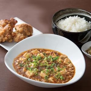 麻婆豆腐定食+唐揚げ2個