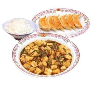 麻婆豆腐セット(麻婆豆腐・餃子・ライス中)