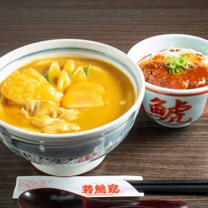 名物カレーうどんミニ丼セット