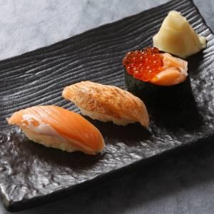 柿家鮨(かきやずし) サーモン3貫盛り