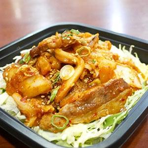 豚バラキムチ丼