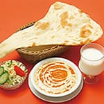 Gセット バターチキンカレー(Butter Chicken Curry+Naan+Salad)