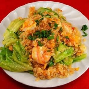 【96】エビレタスチャーハン/Shrimp Lettuce Fried Rice