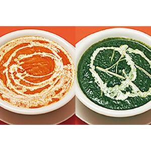 2種類セット1400円(Two curry+Naan+Salad)