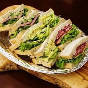トライサンドイッチプレート【3種のサンドイッチ】