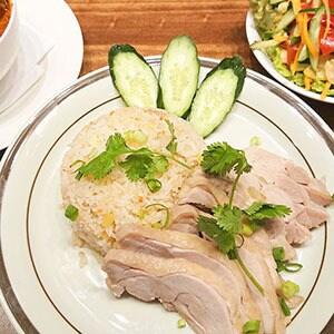 4.カオマンガイ(蒸し鶏の炊き込みご飯)サラダセット