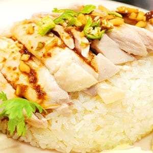 23.蒸し鶏の炊き込みご飯(カオマンガイ)