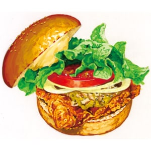 トマトクリスピーチキンバーガー