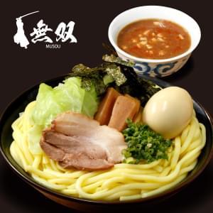 魚介豚骨【辛みそ】つけ麺(大盛り)味玉