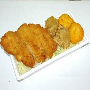 唐揚げ・とりカツ&ナゲット<br>(白米・じゃこ飯・麺セットが選べます)  【3502】カリッと唐揚げ、やわらかとりカツ&国産ナゲット(おかずのみ)