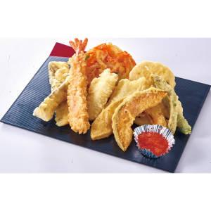 海鮮・野菜天ぷらセット<br>(白米orじゃこ飯が選べます)  【3505】海鮮・野菜天ぷらセット