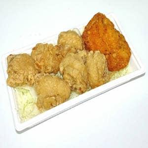メガからとカリッとから揚げ<br>(白米・じゃこ飯・麺セットが選べます) 【3501】メガからとカリッとから揚げ(おかずのみ)