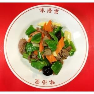 ジンギスカン(羊肉とピーマン炒め)