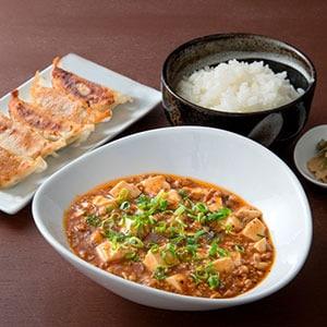 麻婆豆腐定食+餃子5個