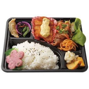 B定食(チキン南蛮+豚キムチ)