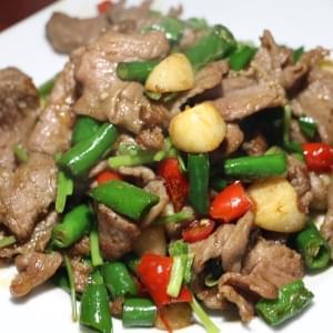 【560】羊の青唐辛子炒め