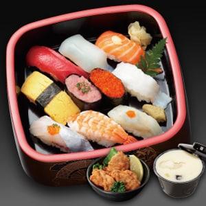 宅配専門 寿司ざんまい 寿司ランチ(茶碗蒸し付き)