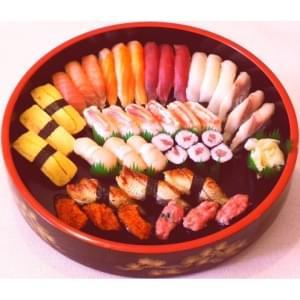 【半額】■夏の函市【厳選極上うなぎとズワイガニ】全39貫+若鶏の唐揚げ7個付き。
