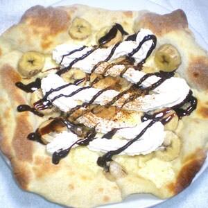 バナナのデザートピザ