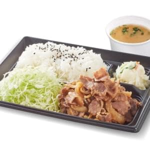未来屋 豚生姜焼き弁当 ご飯並 味噌汁付