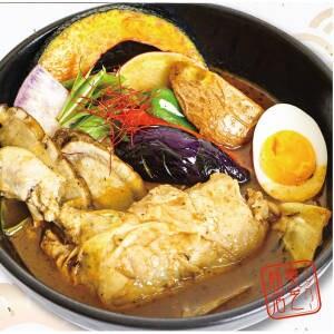 骨付き鶏と旬の野菜カリー 海老スープ 海老スープ