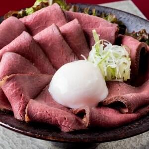 【D754】ローストビーフ丼 大盛
