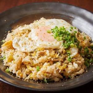 明太子と高菜の焼き飯