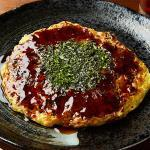 とろろたっぷりお好み焼き(豚)/Okonomiyaki with Plenty of Grated Yam(Pork)