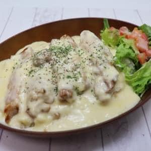 アロハチキンプレート ホワイトチーズソース ALOHA chicken plate CHEESE sauce