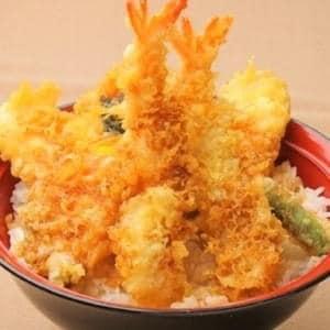 そば九天丼 sobakyu tempura bowl