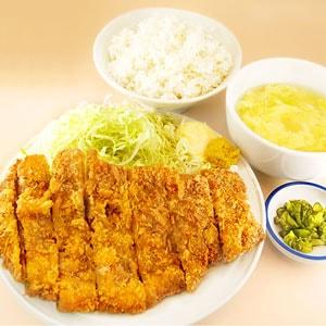 牛カツサーロイン定食