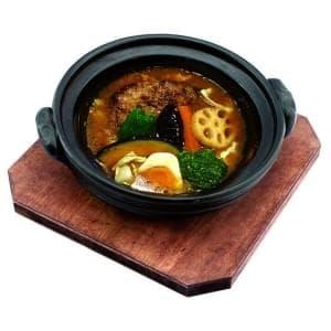 手作りハンバーグカリー オリジナルスープ