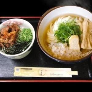 【温】そば・うどん定食【肉めし付】