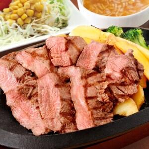 厚切り牛タンステーキ【オニオンスープ・コーンサラダセット】