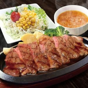 サーロインステーキ【オニオンスープ・コーンサラダセット】