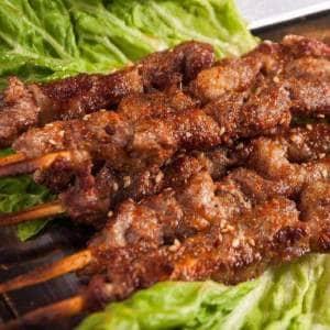 羊肉大串3本 ラム肉串焼き