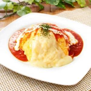とろ~りチーズ&トマトソースオムライス