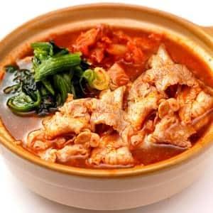 豚肉たっぷりキムチスープ