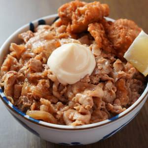 豚の生姜焼き丼【からあげ2個入り】