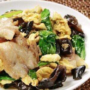 【044】豚肉とキクラゲの玉子炒め