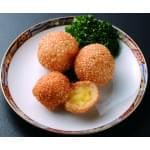 手作り奶王麻球 1個30グラムdeep-fried glutinous rice balls with sweet Custard Bun