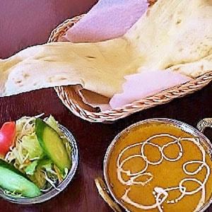 おひとりさま便 B set(2Curry+Chicken Tikka 1+Salad+Nan or Rice)