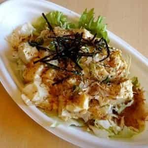 絹ごし豆腐のごま風味和風サラダ