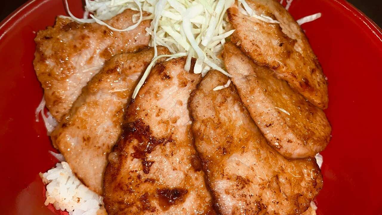岩中豚シャトーブリアンの生姜焼き丼Iwanaka Pork Chateau Brian Ginger Grilled Salmon
